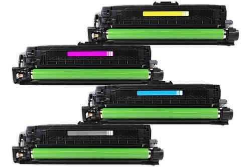 Komplet HP 507X + HP 507A (C,M,Y) / CE400X + CE401A + CE402A + CE403A / Laserjet M551, M570, M575 kompatibilni tonerji (4) - črna, cyan, magenta, rumena