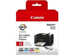Komplet 4 kartuš Canon PGI-1500XL / 9182B004AA - črna, cyan, magenta, rumena (original)