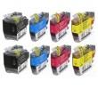 Komplet Brother 8x LC3617 / 8x LC3619XL / MFC J 2330, 3530, 3930 kompatibilne kartuše (8) - 2x črna XL, 2x cyan XL, 2x magenta XL, 2x rumena XL
