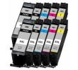 Komplet Canon PGI-580PGBK + CLI-581 (BK,C,M,Y) / Pixma TR7550, TR8550, TS6150, TS6151, TS6350, TS6351, TS8150, TS8151, TS8152, TS8350, TS9150, TS9155, TS9550, TS9551 kompatibilne XXL kartuše (10) - 2x PGBK XXL, 2x BK XXL, 2x C XXL, 2x M XXL, 2x Y XXL