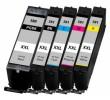 Komplet Canon PGI-580PGBK + 4× CLI-581 (BK,C,M,Y) / Pixma TR7550, TR8550, TS6150, TS6151, TS8150, TS8151, TS8152, TS9150, TS9155 kompatibilne XXL kartuše (5) - pigmentna črna XXL, črna XXL, cyan XXL, magenta XXL, rumena XXL