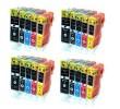 Komplet Canon 4× PGI-550PGBK + 16× CLI-551 (BK,C,M,Y) / PGI550 + CLI551 / Pixma IP7250, MG5450, MG5550, MG6350, MG6450, MG7150, MX725, MX925 kompatibilne kartuše (20) - 4× pigmentna črna XL, 4× črna XL, 4× cyan XL, 4× magenta XL, 4× rumena XL