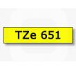 Brother TZe-651 / TZ-651 trak 24mm - črn izpis / rumen trak (original)