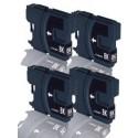 Komplet Brother 4 × LC1100BK kompatibilne kartuše (4) - 4 × črna