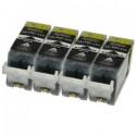 Komplet Canon 4 × PGI-525BK / PGI525 / 4529B001 kompatibilne kartuše (4) - 4 × črna