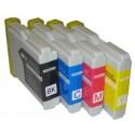 Komplet Brother LC1000VAL / LC-1000 / LC1000 kompatibilne kartuše (4) - črna, cyan, magenta, rumena