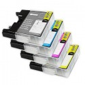 Komplet Brother LC1280XLVALBPDR / LC1280XL / LC-1280XL kompatibilne kartuše (4) - črna, cyan, magenta, rumena