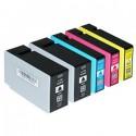 Komplet Canon PGI-1500XL / Maxify MB2050, MB2150, MB2350, MB2750 kompatibilne kartuše (5) - 2 x črna, cyan, magenta, rumena