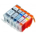 Komplet Canon PGI-5BK + 4× CLI-8 (BK,C,M,Y) / PGI5 + CLI8 kompatibilne kartuše (5) - črna, črna, cyan, magenta, rumena